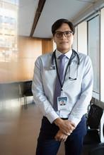Portrait Confident Male Doctor...
