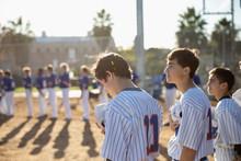 Baseball Players Standing For ...