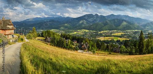 Leinwand Poster Zakopane and Tatra Mountains - Poland