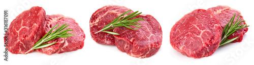 Fotografía Beef steak isolated on white background