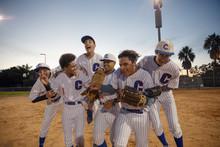 Excited Baseball Team Celebrat...