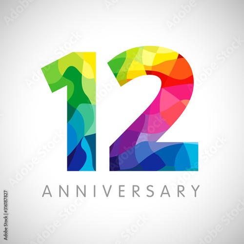 Fotografia  12 th anniversary numbers