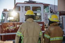 Firefighters Walking Toward Fi...