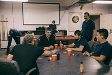 Firefighters Playing Poker At ...
