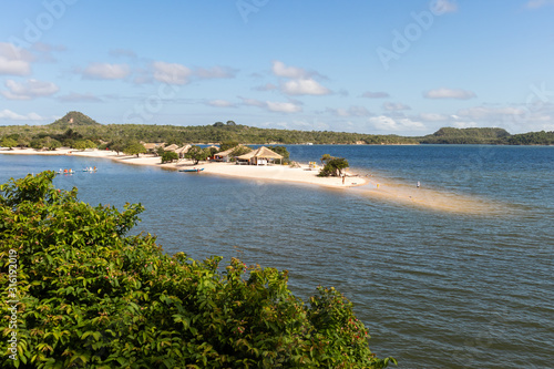 """Alter do Chão"" Beach, a freshwater beach along the Tapajos river, located in Santarem/Brazil Slika na platnu"