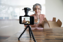 Senior Woman Vlogging, Unboxin...