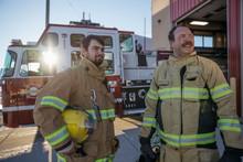 Firefighters Talking Outside F...