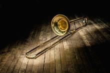 Golden Brass Instrument Trombo...