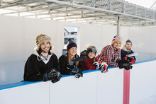 Friends Watching Outdoor Ice H...