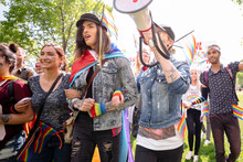 Students On Gay Pride March Us...