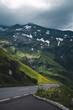 Großglockner Hochalpenstrasse im Hohe Tauern Nationalpark auf Seite Salzbuger Land, Österreich