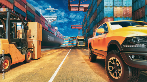 Fotografía Transportation and logistics.