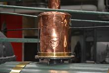 Copper Condenser On Top Of Vintage Train Engine
