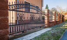 Wrought Iron Fence With Iron G...