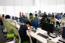 Students Sitting In Computer S...