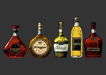 Illustration Of Different Brandies Types