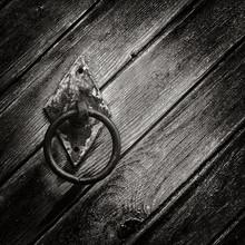 Old Circular Iron Door Knob