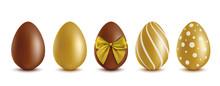 Set Of Chocolate Eggs - Golden...