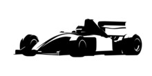 Formula Racing Car, Isolated V...