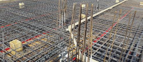 Cantiere edile - tutto pronto per il getto del cemento Wallpaper Mural