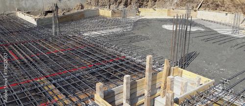 Photo Cantiere edile - tutto pronto per il getto del cemento