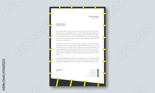 Fototapeta Corporate yellow letterhead template layout obraz
