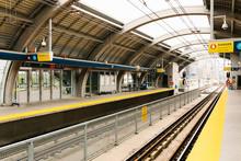 Railway Station Platform And T...