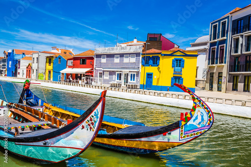Fényképezés Colorful Buildings And Boats - Aveiro, Portugal