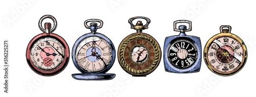 Obraz na plátně set of pocket watches