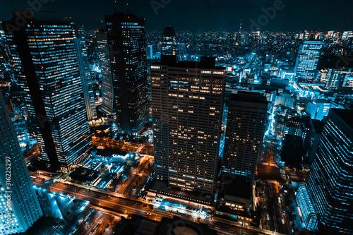 東京 新宿 都庁から見た夜景 ~Night View of Tokyo Shinjuku~ Wallpaper Mural
