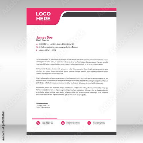 Fototapeta Abstract corporate professional letterhead template design obraz