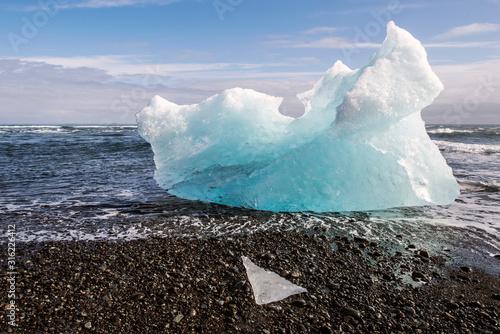 glace sur la plage Canvas Print