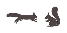 Squirrel Logo. Isolated Squirr...