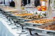 Leinwanddruck Bild - catering wedding buffet for events