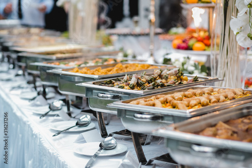 catering wedding buffet for events Canvas Print