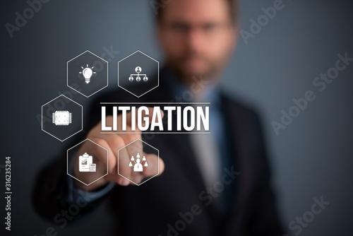 Litigation Canvas Print