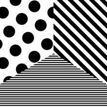 Abstract Pattern With Black Do...