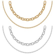 Gold And Silver Chain Necklace...