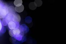Creative Abstract Fiber Optics Purple Background