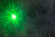 Abstract Green Spark Of Light