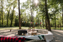 Picnic Area With Bunting In Ur...