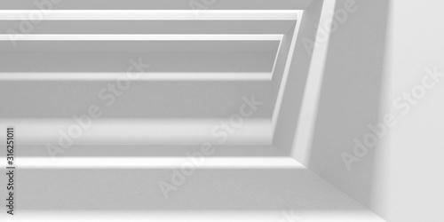 Fototapeta Futuristic White Architecture Design Background obraz na płótnie