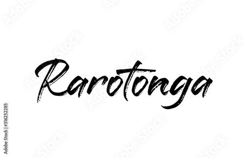 capital Rarotonga typography word hand written modern calligraphy text lettering Tapéta, Fotótapéta