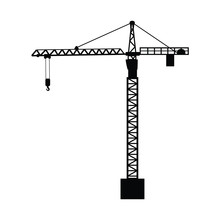 Construction Crane On White Ba...