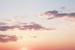 Leinwandbild Motiv evening sky with clouds