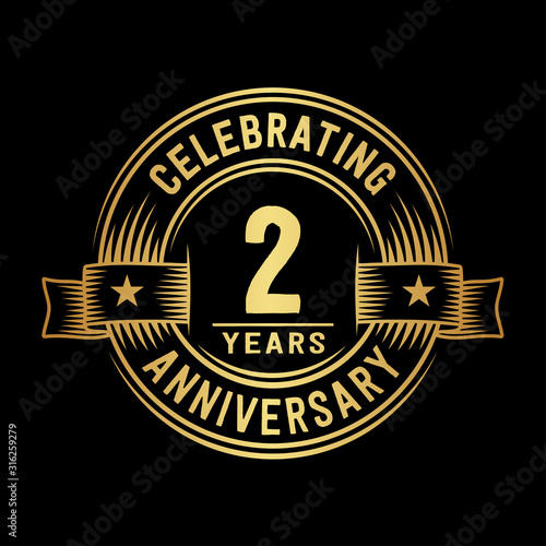 Fotomural 2 years anniversary celebration logotype