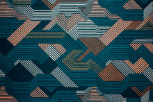 Fabric Texture With Abstract L...