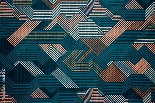 Fabric texture with abstract lines.Fabric background with multi-colored lines.Abstract background. - 316260867