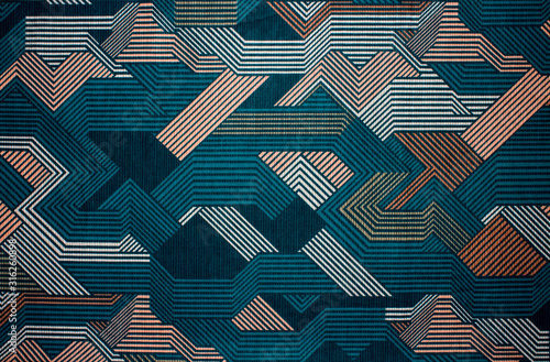 Obraz Fabric texture with abstract lines.Fabric background with multi-colored lines.Abstract background. - fototapety do salonu