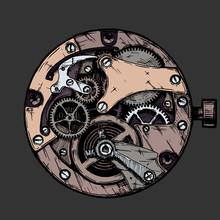 Vector Illustration Of Clockwork